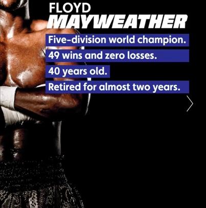 Floyd Mayweather Canvas