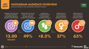 Instagram audience overview in Saudi Arabia